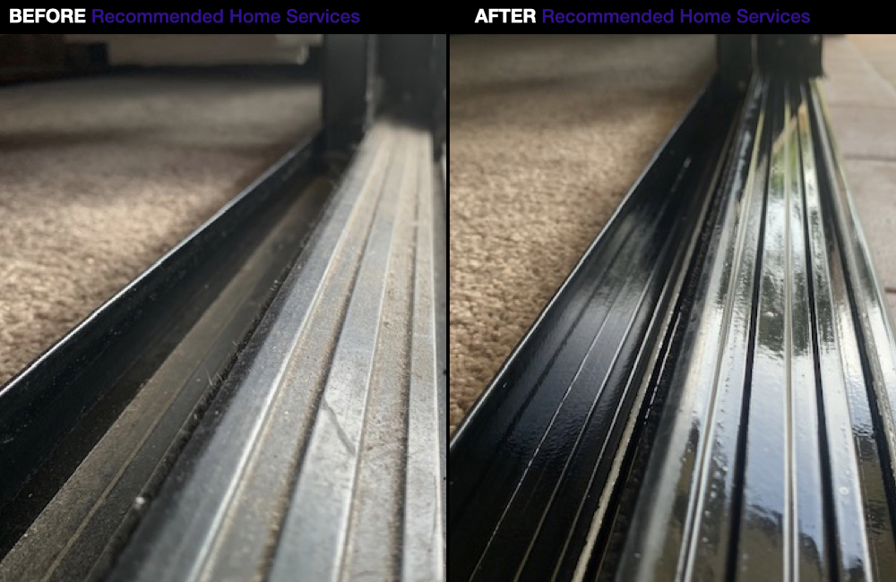 Cleaning Sliding Door Tracks - Window Cleaning